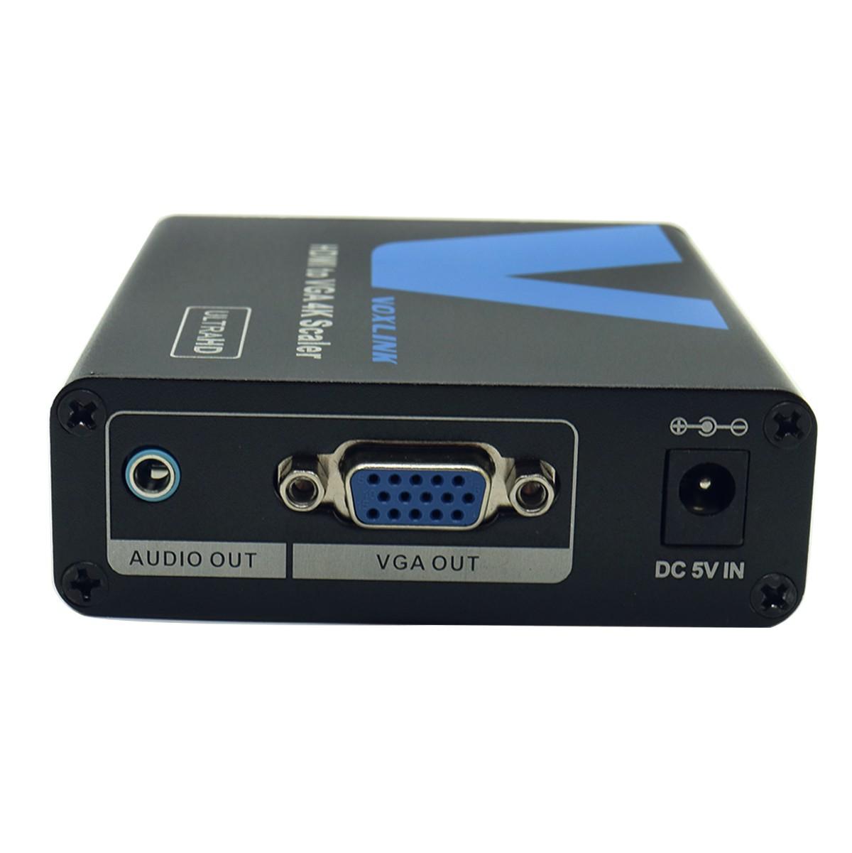 VOXLINK 4Kx2K HDMI to VGA Converter Box