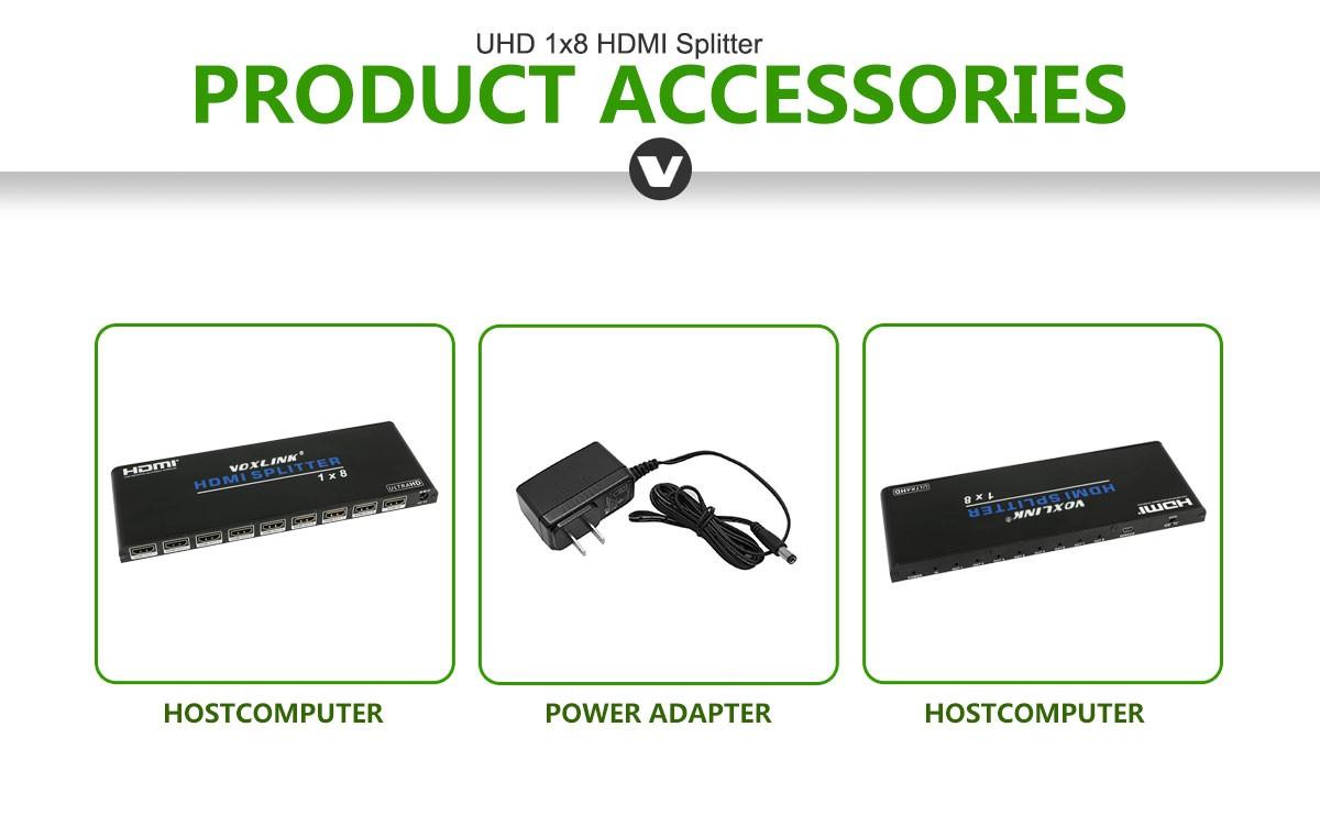 VOXLINK UHD 1x8 HDMI Splitter AU