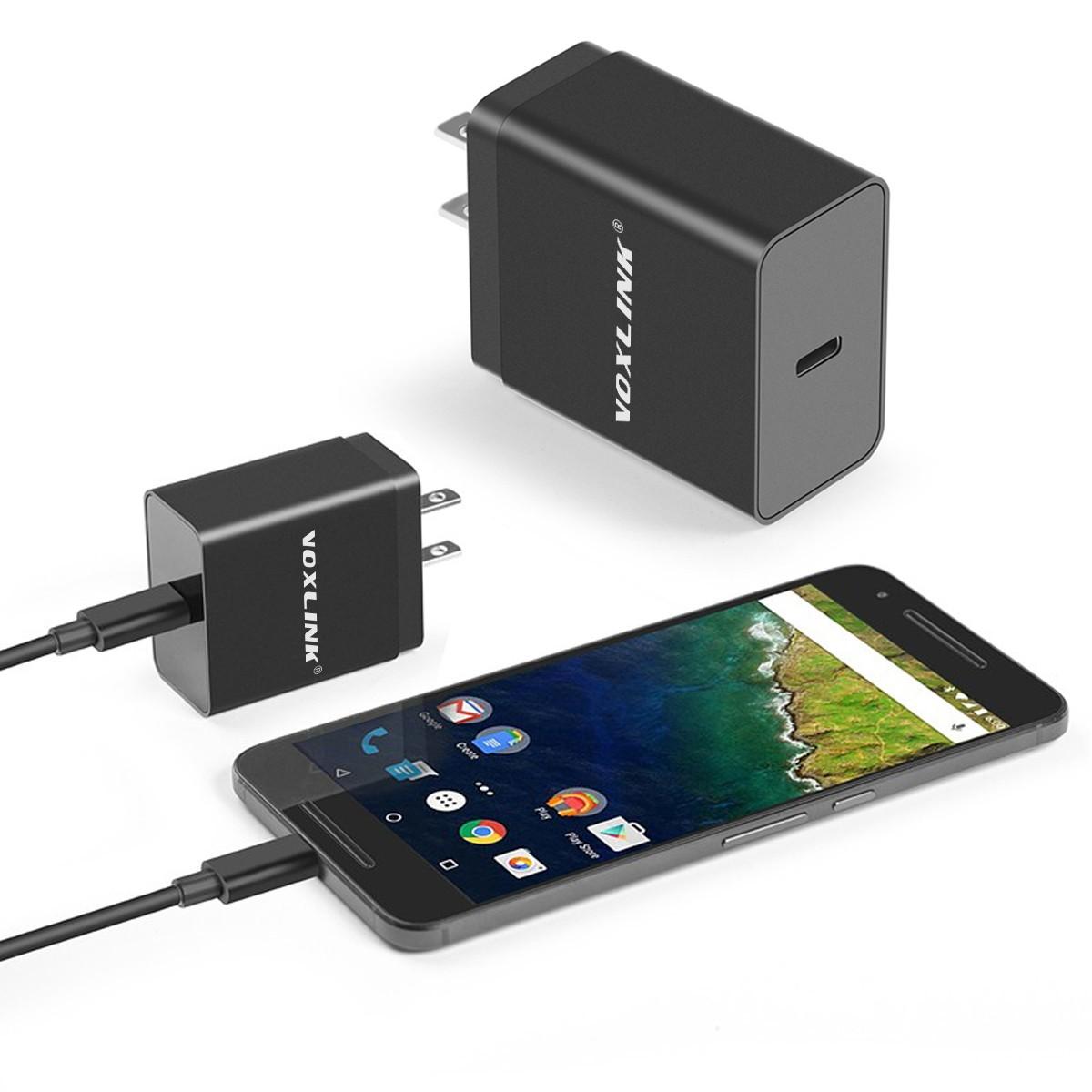 VOXLINK 15 AC adapter pitaniya 3A Wat Webcam zaryadnoye ustroystvo tipa C dlya Huawei Honor 8 P9 plyus V8 Nexus 6 P / Macbook Nokia N1 OnePlus 2 Pust' V Le A EU
