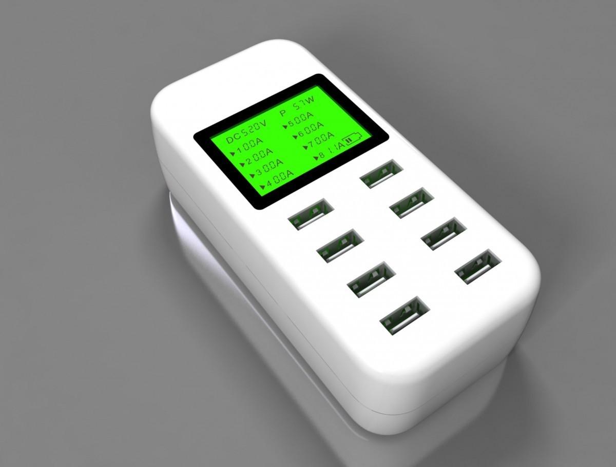 VOXLINK 5V 10A 50W 6-Port USB car Charger Travel Adapter Intelligent Detect Charging EU